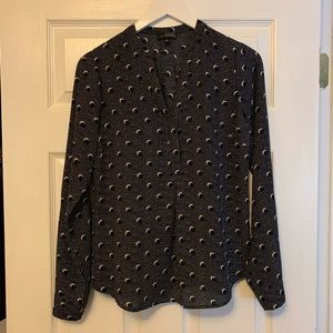 The Limited Tops - The Limited split neck blouse